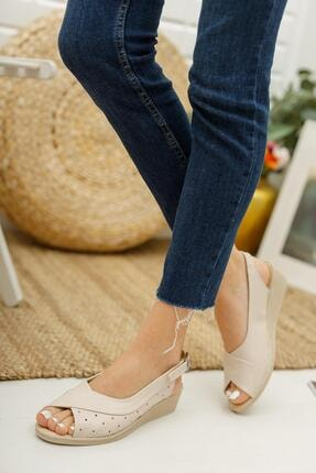 Muggo Ays72 Kadın Günlük Ortopedik Sandalet 2