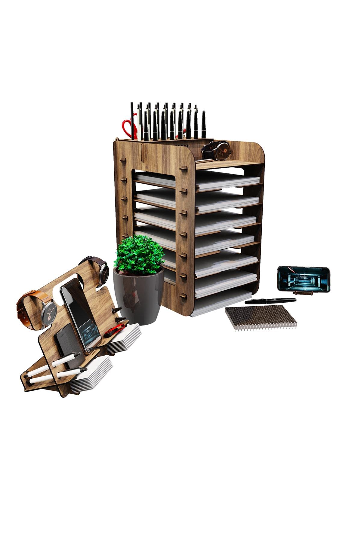 Robinia A4 Evrak Rafı Ofis Masaüstü Organizer Düzenleyici 3'lü Set