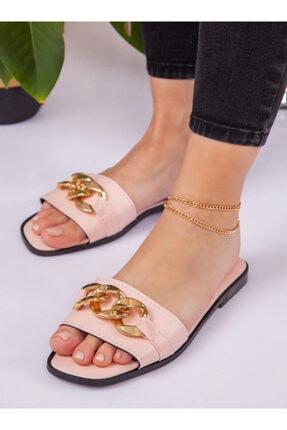 ayakkabıhavuzu Kadın Pudra Terlik 0
