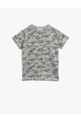 Koton Erkek Çocuk Koton T-shirt Gri 0