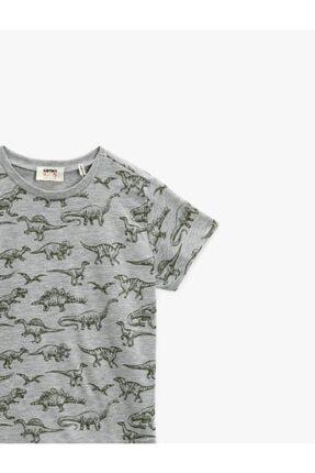 Koton Erkek Çocuk Koton T-shirt Gri 2