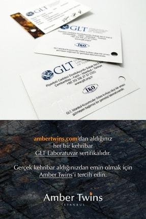 AmberTwins by KehribarBurada Glt Sertifikalı Turkuaz Filli Kehribar Bebek Kolye - 32 Cm 1