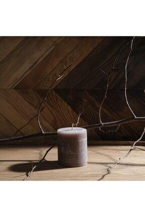 Q-Art Cinnamon Silindir Blok Mum-7x8 Cm 0