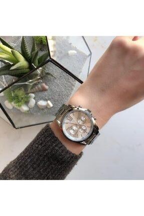 OQQO Kadran Tasarımlı Metal Gümüş Kadın Kol Saati 0