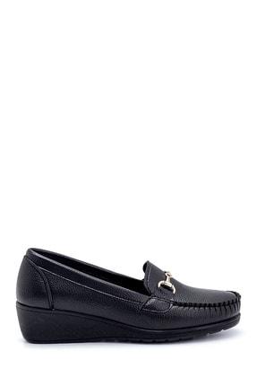 Derimod Kadın Siyah Dolgu Topuklu Loafer Ayakkabı 0