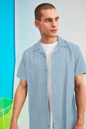 Picture of Açık Mavi Erkek Regular Fit Apaş Yaka Gömlek TMNSS21GO0565