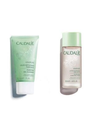 Caudalie Travel Sıze Set Vinopure Arındırıcı Temizleme Jeli 30 Ml + Vinopure Clear Skin Purifying Tonik 50 Ml 0