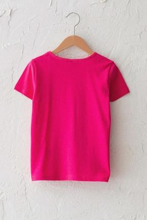 LC Waikiki Kız Çocuk Neon Fuşya Hxs T-Shirt 1