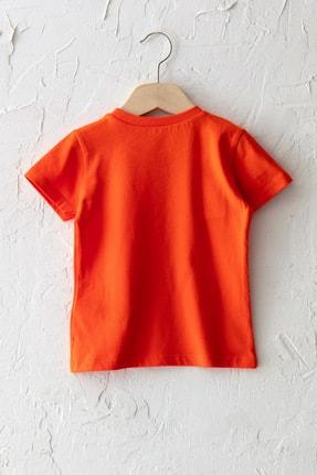 LC Waikiki Erkek Bebek Canlı Turuncu Grm T-Shirt 1
