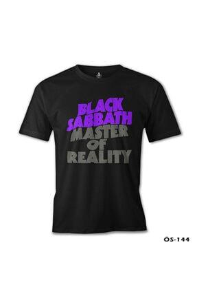 Lord T-Shirt Erkek Siyah Black Sabbath - Master Of Reality Baskılı T-shirt 1