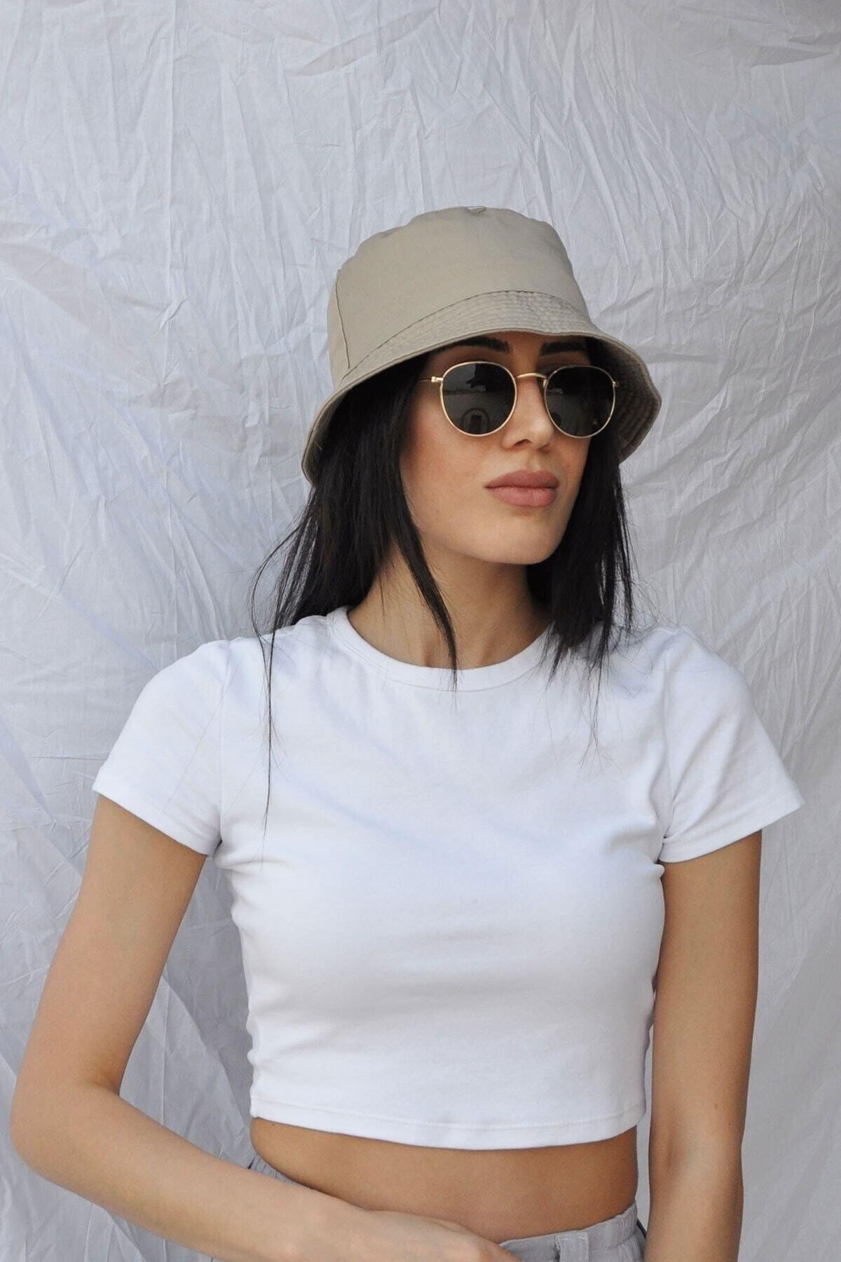 Koyu Bej Kova Şapka Balıkçı Şapka Bucket Hat