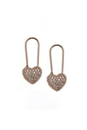 Luna Argento Jewelry Kalp Gümüş Küpe 0