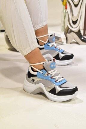Matilla Kadın Gümüş Turkuaz Spor Ayakkabı 1