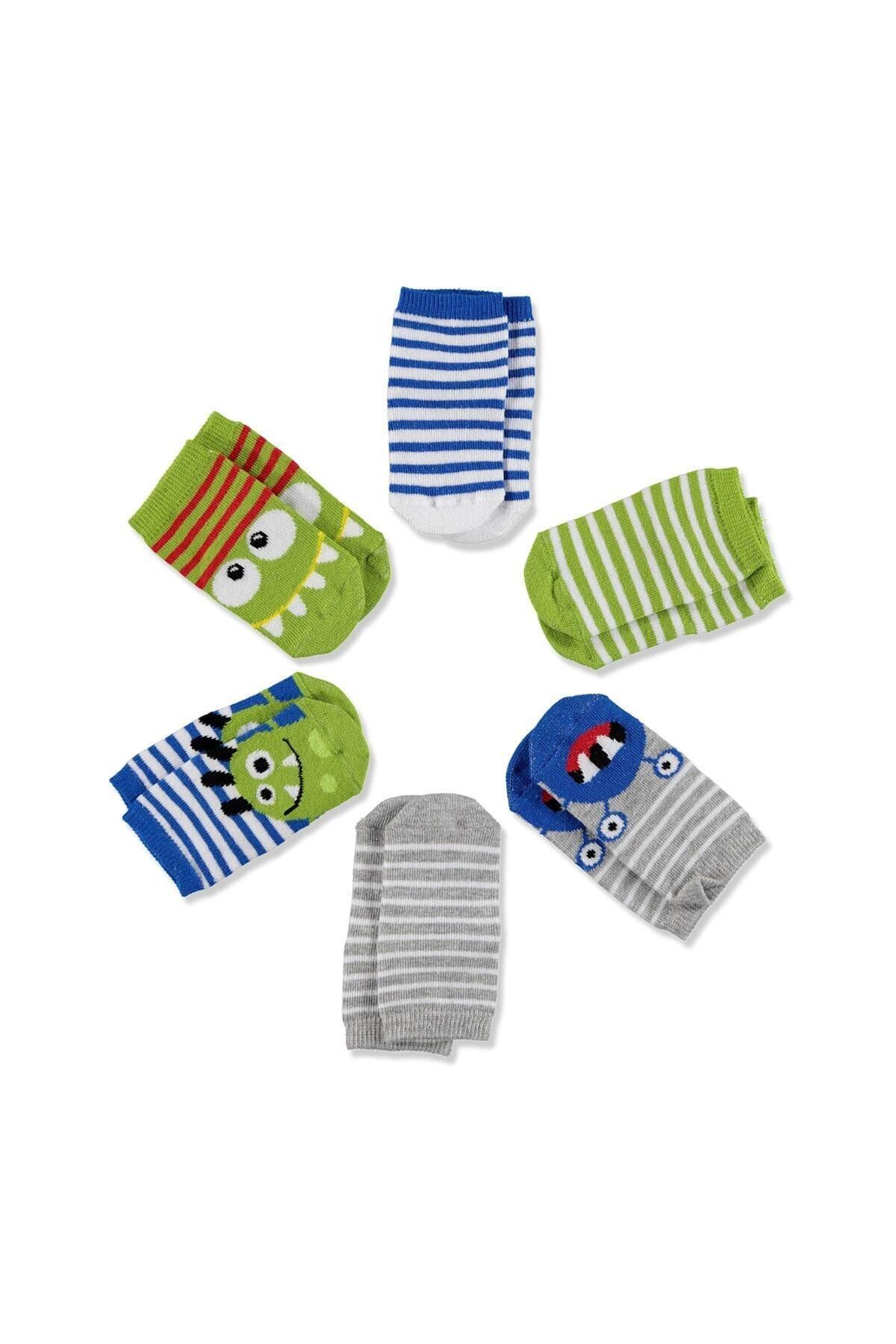 Bebek 6'lı Soket Çorap Uzay