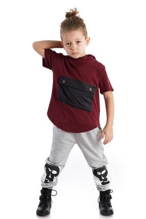 تصویر از Erkek Çocuk Gri Knee Patch Jogger