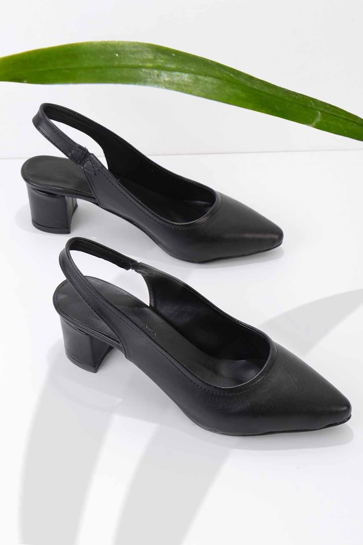 Siyah Kadın Klasik Topuklu Ayakkabı K01503721009
