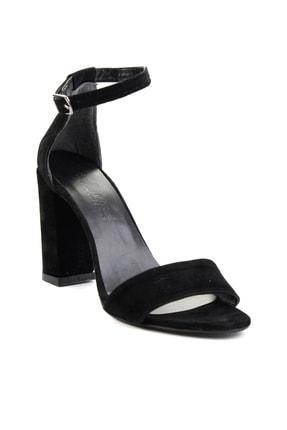 Bambi Siyah Süet Kadın Klasik Topuklu Ayakkabı K01503741072 2