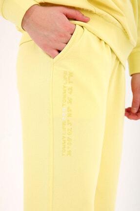 Tommy Life Limon Kadın Kapüşonlu Kanguru Cep Oversize Lastik Paça Eşofman Takımı - 95288 1