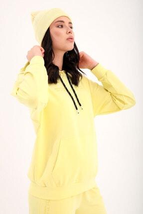 Tommy Life Limon Kadın Kapüşonlu Kanguru Cep Oversize Lastik Paça Eşofman Takımı - 95288 4