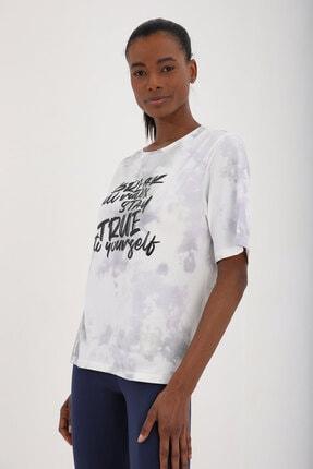 Tommy Life Mor Kadın Yazı Baskılı Batik Desenli Oversize O Yaka T-shirt - 97125 3