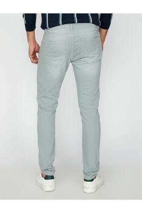 Koton Erkek Yeşil Dar Kesim Pantolon 3