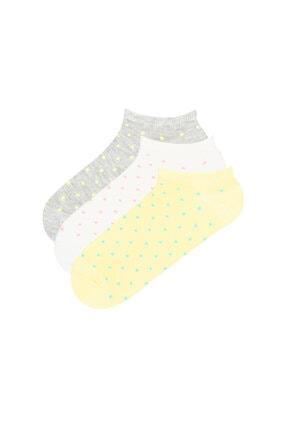 Penti Çok Renkli Dotlu 3lü Patik Çorap 0