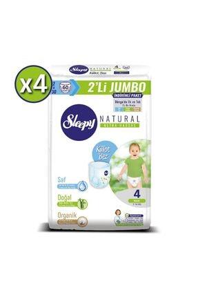 Sleepy Natural Külot Bez 4 Beden Maxi 4x2'li Jumbo 240 Adet 7-14 Kg 1