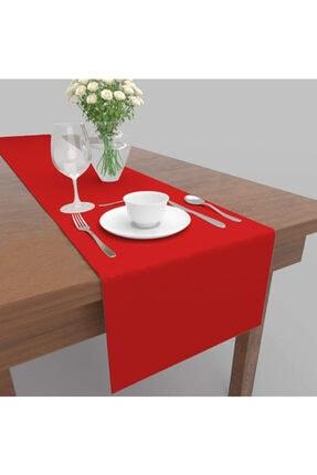 DECORTEX Dekoratif Özel Tasarım Runner Masa Örtüsü Kırmızı 40 X 150 cm 0