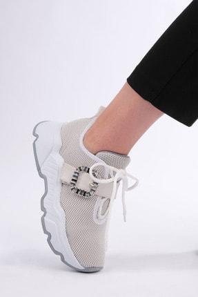 Marjin Kadın Beyaz Sneaker Ayakkabı Baruba 1