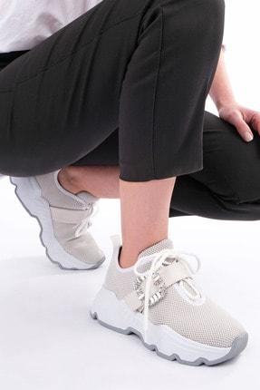 Marjin Kadın Beyaz Sneaker Ayakkabı Baruba 3