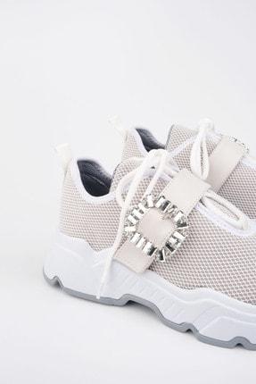 Marjin Kadın Beyaz Sneaker Ayakkabı Baruba 4