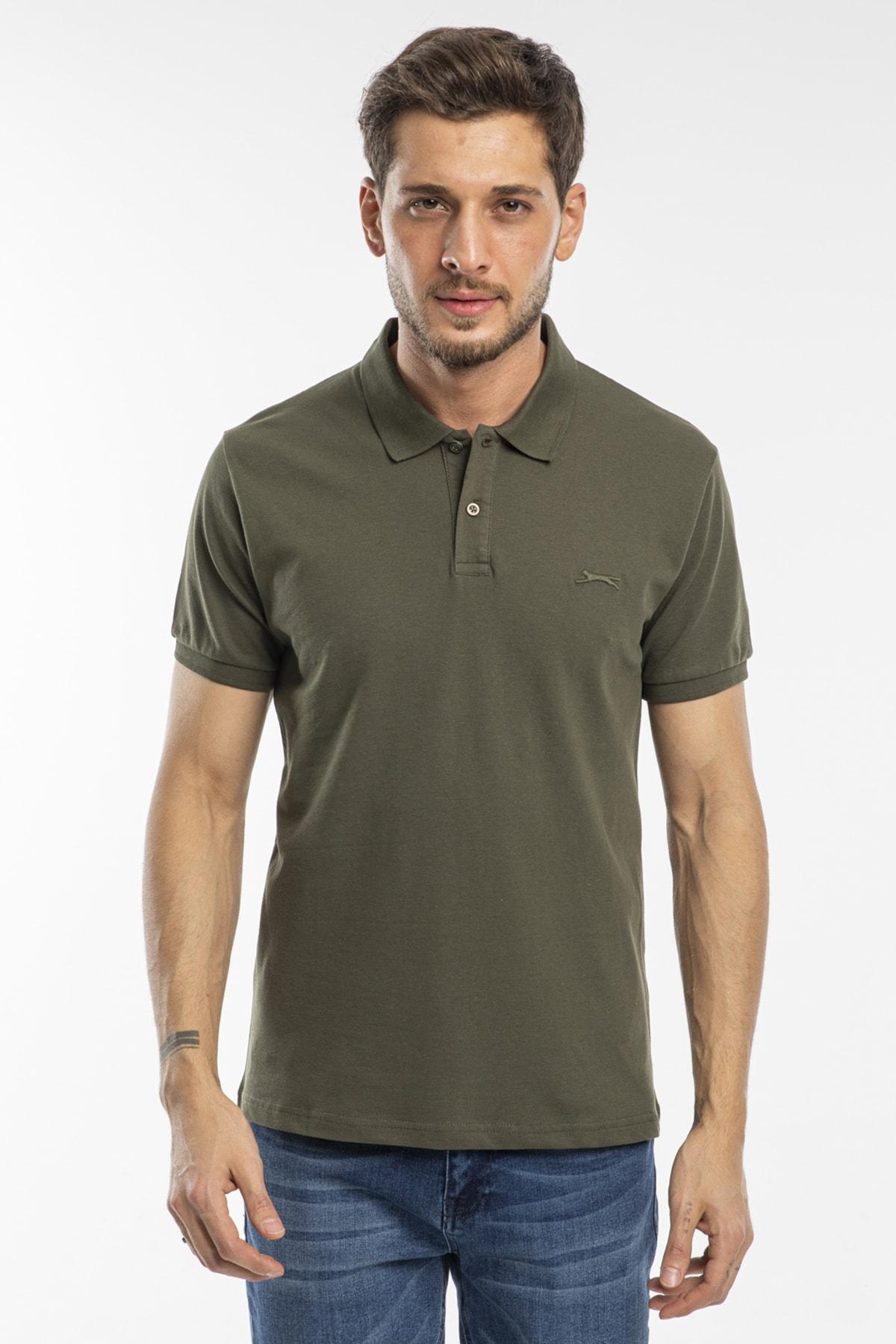 Salvator Erkek T-shirt Haki St11te081