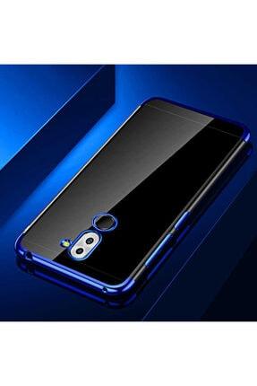 Huawei Mate 20 Lite Kılıf Lazer Boyalı Renkli Esnek Silikon Şeffaf 0