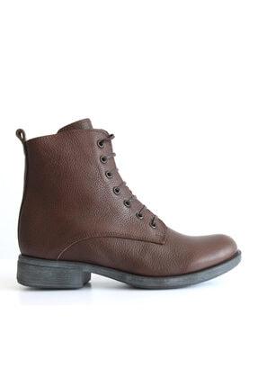 Beta Shoes Kadın Hakiki Deri Bot Kahve 1