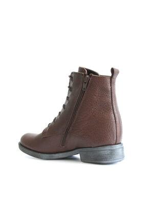 Beta Shoes Kadın Hakiki Deri Bot Kahve 4