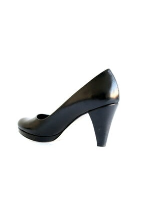 Beta Shoes Kadın Hakiki Deri Topuklu Ayakkabı Siyah 3