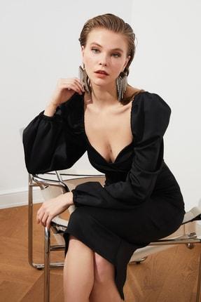 TRENDYOLMİLLA Siyah Kol Detaylı Elbise TPRSS20EL1010 3