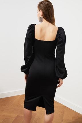 TRENDYOLMİLLA Siyah Kol Detaylı Elbise TPRSS20EL1010 4