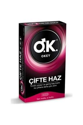 Okey Çifte Haz Prezervatif 10'lu 1