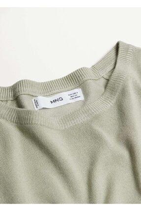 Mango Kadın Yeşil Bluz -- 4
