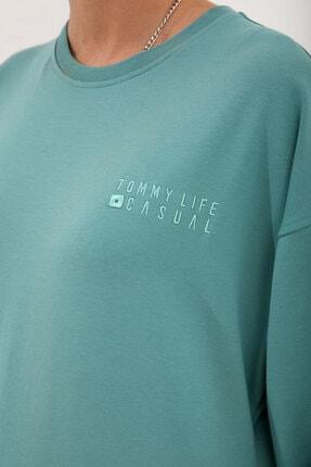 Tommy Life Kadın Casual O Yaka Oversize Lastik Paça Eşofman Takımı 2