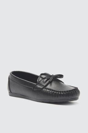 TRENDYOLMİLLA Siyah Fiyonklu Kadın Loafer Ayakkabı TAKSS21LO0004 2