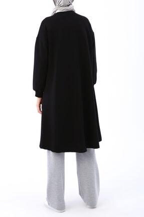Ekrumoda Siyah Basic Kloş Tunik 4