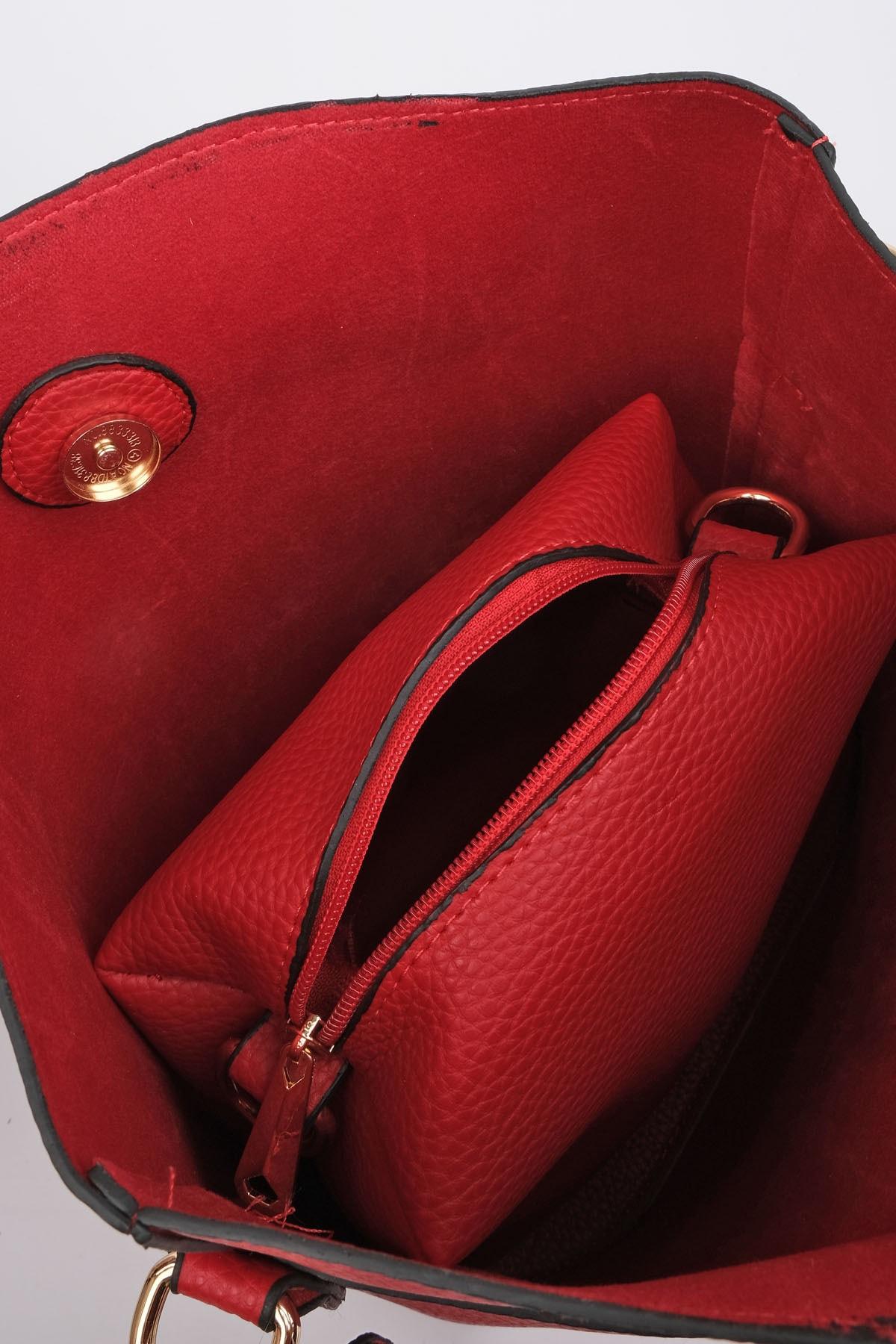 Marjin Kadın Kırmızı Omuz Çantası Torima 3