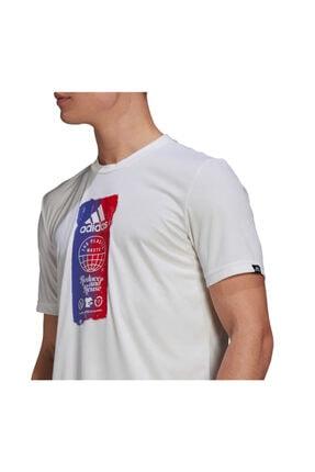 adidas M FTO ICN T Beyaz Erkek T-Shirt 101079871 4
