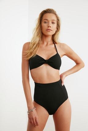TRENDYOLMİLLA Siyah Yüksek Bel Bikini Altı TBESS21BA0070 2