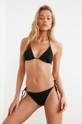 TRENDYOLMİLLA Siyah Dokulu Bikini Altı TBESS21BA0287 1