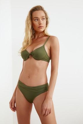 TRENDYOLMİLLA Haki Drapeli Bikini Altı TBESS20BA0217 1