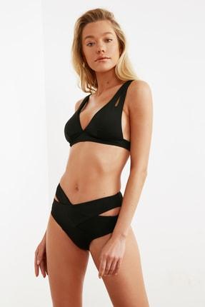 TRENDYOLMİLLA Siyah Cut Out Detaylı Yüksek Bel Bikini Altı TBESS20BA0184 2