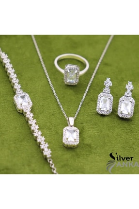 Silveranka 925 Ayar Gümüş Baget 4' Lü Set 0